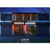 郑州餐饮店面装饰设计公司推荐中式特色餐饮店面装修案例