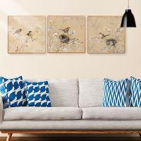 新中式客厅装饰画 现代简约墙上挂画玄关电表箱书房卧室有框壁画