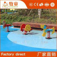 定制幼儿园户外玩具塑料弹簧组合摇马 小区儿童摇摇乐定做