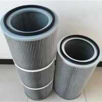 厂家定制1.5米 2米高工业粉尘聚酯滤芯 防静电除尘滤筒