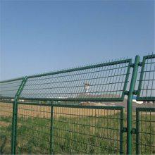公路隔离围栏 双边丝护栏 绿色铁丝