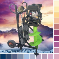 园林绿化螺旋打坑机 新款二冲程汽油手提便携式挖坑机 启航果树移植打坑机