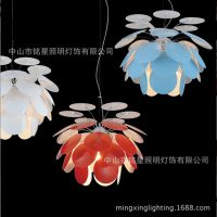 北欧简约铝材松果吊灯软装松果灯花瓣叶片吊灯酒店餐厅豪华吊灯具