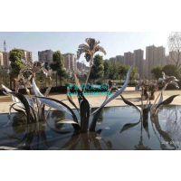 不锈钢植物雕塑 不锈钢镜面水仙雕塑