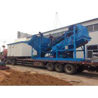 山东大型矿场用筛沙机 旱地移动沙石筛分设备hc