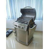 德国LANDMANN兰德曼 菲尔克三头不锈钢燃气烧烤炉 304不锈钢烧烤炉