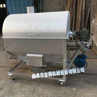 电热燃气移动式炒货机 炒瓜子花生机 商用立式燃气炒货机