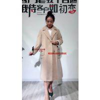 品牌女装尾货批发欧莎玛卡羊驼绒大衣羊剪绒大衣