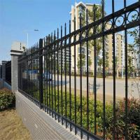 铁艺施工围栏、带花式锌钢围墙护栏、锌钢护栏生产厂家