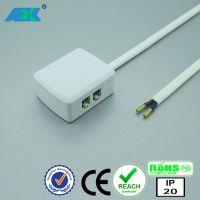 Molex led橱柜灯分线盒1拖4接线盒灯带灯条接线器低压灯4孔分接盒2510