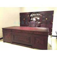 西安仿古办公桌尺寸价格、实木红木厂家、中式办公桌效果图