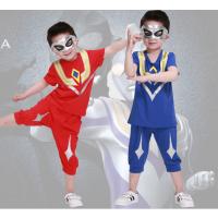 广东工厂批发地摊赶集货源童装男童夏季新款2018中大童儿童休闲拼接短袖套装天涯路