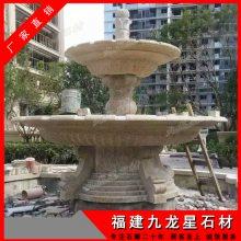 石雕喷泉雕塑设计 欧式大型户外水钵 花岗岩流水喷泉
