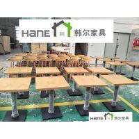 简约西餐厅实木桌子 上海咖啡厅餐桌上海实木桌子厂 韩尔家具