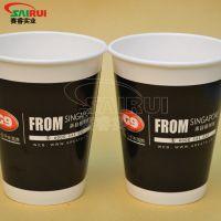 12盎司双淋膜纸杯价格优惠,咖啡纸杯制作厂,一次性纸杯广告