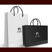 厂家定制黑卡礼品纸袋 化妆品广告袋 单粉卡手提袋服装纸袋定做 印刷设计