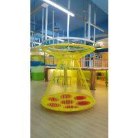 彩虹绳网产品是2014年至今一直很火爆的儿童娱乐设施起航游艺最具带变形的QHYY-CHZ