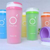 广告杯定制批发 随手塑料防漏杯子 定做促销礼品杯可印字LOGO