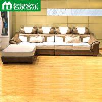 F103-5-1C客厅简约科技布组合沙发大连软包家具工厂直销