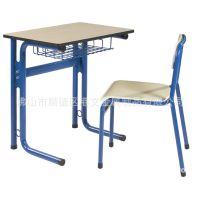 课桌椅生产厂家 顺德港文单人位带书网课桌椅 金属学生学习桌