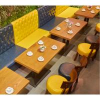 倍斯特厂家定制现代中式主题中餐仿实木餐桌茶餐厅咖啡奶茶甜品快餐桌