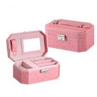 欧式首饰品收纳盒 韩国公主复古手提首饰盒 珠宝盒带镜定制