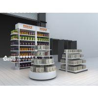烤漆展柜-奥体超市进口食品展柜-钢木货架