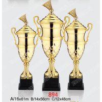 体育活动纪念品 羽毛球团体赛奖杯定制 金属开模奖杯价格 羽毛球奖杯