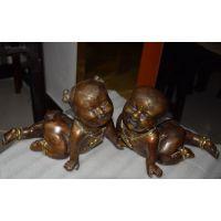 东莞原著雕塑厂家 铸铜娃娃雕塑 精美家居摆件