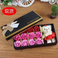 包装盒 礼盒厂家直销18格巧克力盒黑色玫瑰香皂花礼盒现货批发