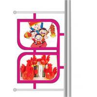 灯杆灯箱生产厂家 路杆广告牌 灯杆道旗 中国结广告灯箱出货快