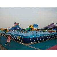 大型户外广场度假村可移动可拆卸的支架游泳池水乐园