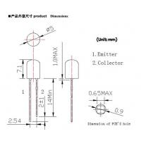5MM光敏三极管接收头 400-700NM
