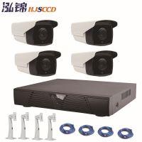 泓锦HJSCCD  4路监控设备套装300万高清POE网络监控摄像头套餐