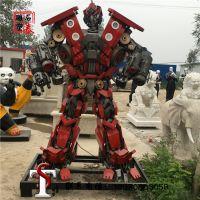 大型变形金刚金属铁艺擎天柱发光机器人模型广场商场雕塑摆件定制