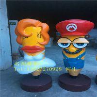 卡通玻璃钢模型出租 广东佛山玻璃钢雕塑制作厂家
