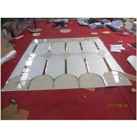 艺术玻璃电视背景墙配套边框茶镜灰镜白镜火箭头造型玻璃拼镜