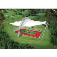 平顶山膜结构 钢及合金膜结构网球场 遮阳膜