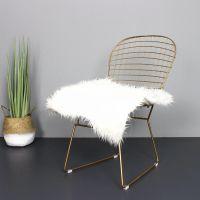 铁艺镂空铁线椅 酒吧创意靠背椅简约设计师卧室高脚椅网红铁丝椅