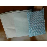 60g无纺布生产厂家 印花清洁水刺无纺布代加工 全棉波浪纹