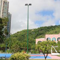 镀锌球场灯杆-贵阳市篮球场8米锥形灯柱 室外篮球场灯柱规格尺寸