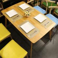 倍斯特定制北欧主题餐厅实木餐桌小清新日系料理中餐奶茶咖啡桌