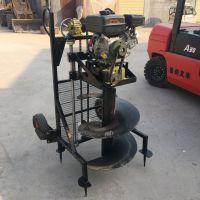 手提式植树挖坑机 汽油打孔机厂家 富兴牌好启动汽油刨坑机