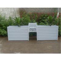 专业定制品木PVC塑木花箱
