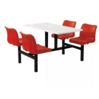 快餐组合整套,食堂餐桌,不锈钢连体餐桌
