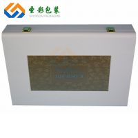 厂家定做化妆品皮盒 化妆品精油礼盒 美容护肤皮木盒保健品彩盒
