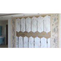 重庆厂家定制 夹丝艺术玻璃背景墙 酒店宾馆装饰装修用