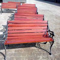陕西公园椅 陕西户外休闲椅 防腐木长椅 塑木平凳 靠背椅 陕西木塑靠背椅 专业定制