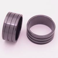 1.6厚三圈戒指反向螺纹槽薄款饰品配件氧化锆陶瓷首饰生产厂家