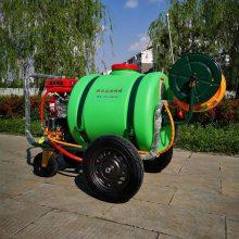 多功能农用喷雾器 汽油机动式打药机 160升担架四轮喷药喷雾机 正品